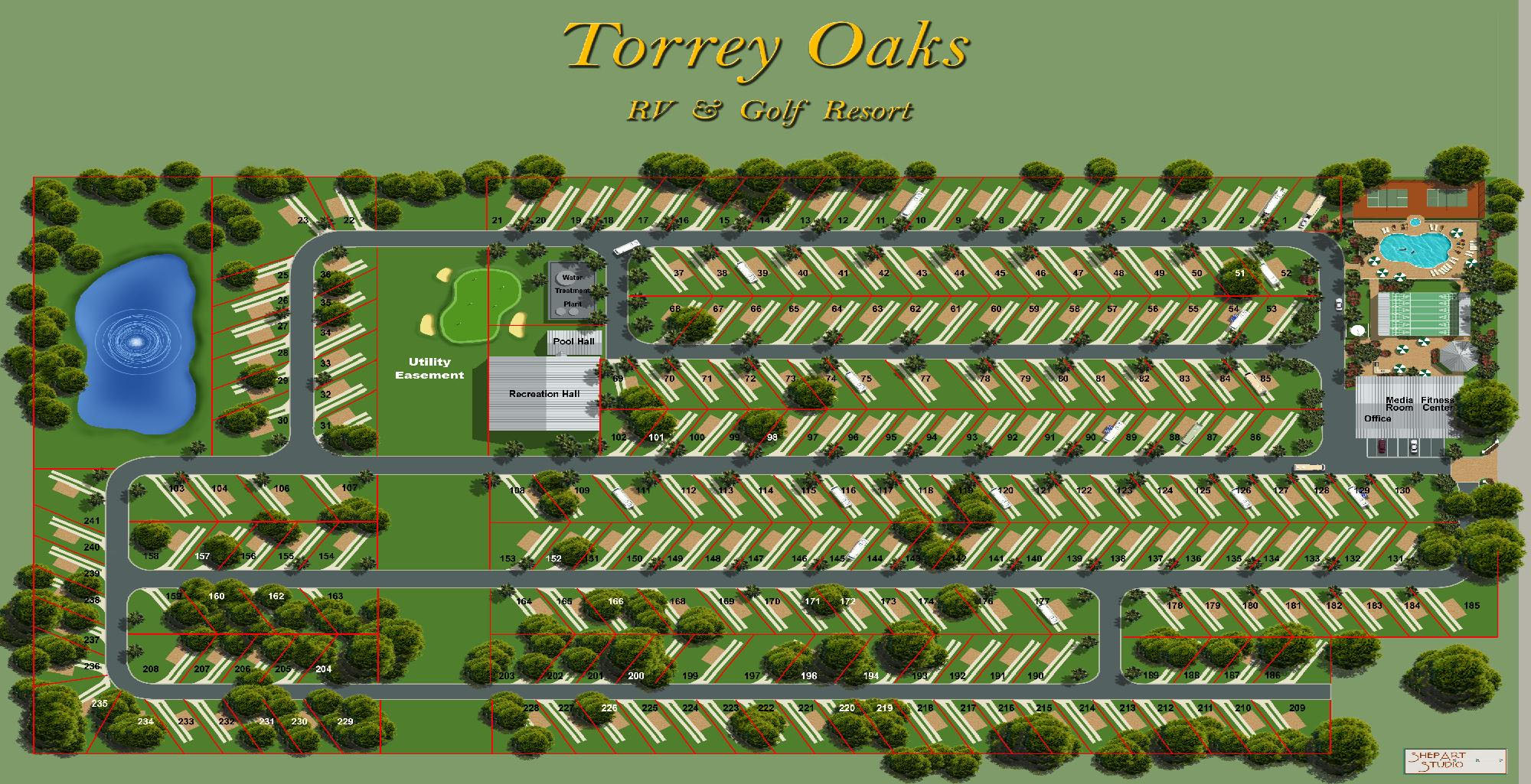 Site Plan Torrey Oaks Rv Resort